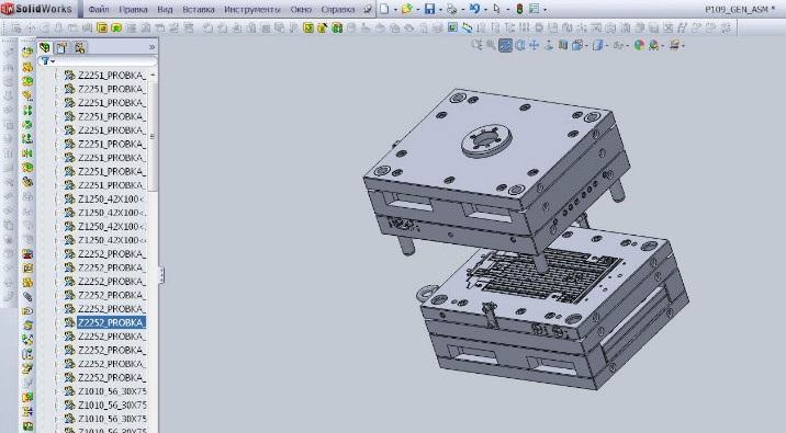 Проектирование пресс-формы для литья пластмасс