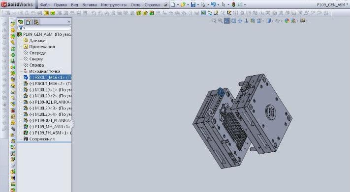 3D моделирование пресс-формы