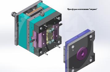 3D модель пресс-формы заглушка из ПА6