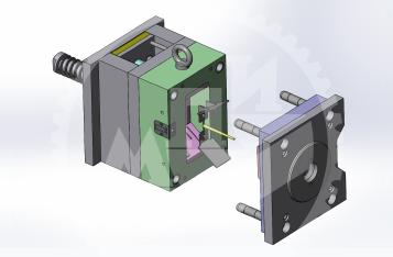 3D модель пресс-формы для стопора из ПК